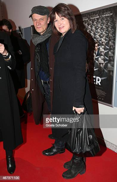 Edgar Selge and his wife Franziska Walser attend the German premiere of the film 'Elser' at Arri Kino on March 23 2015 in Munich Germany