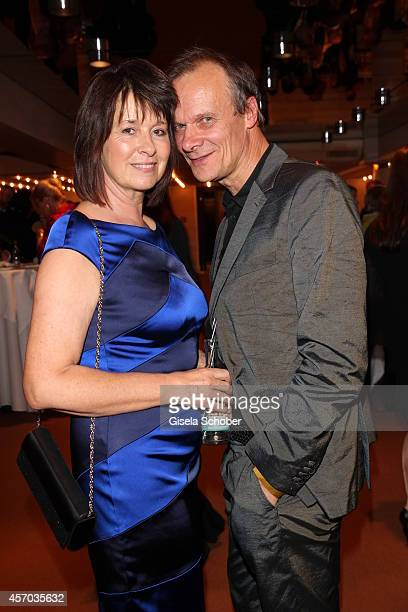 Edgar Selge and his wife Franziska Walser attend the Hessian Film And Cinema Award 2014 on October 10 2014 at Alte Oper in Frankfurt am Main Germany