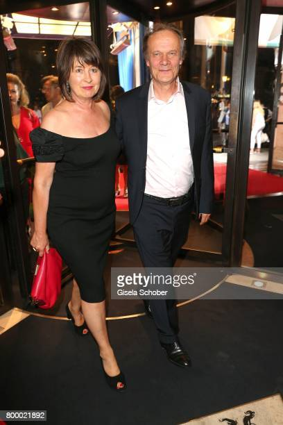 Edgar Selge and his wife Franziska Walser during the opening night party of the Munich Film Festival 2017 at Hotel Bayerischer Hof on June 22 2017 in...
