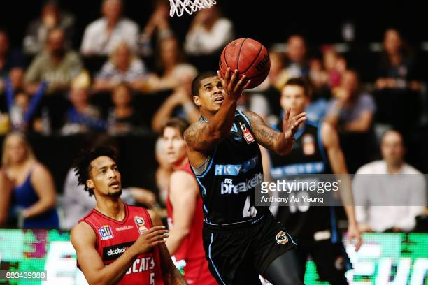 Edgar Sosa of the Breakers goes to the basket during the round eight NBL match between the New Zealand Breakers and the Perth Wildcats at North Shore...