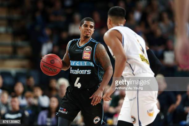Edgar Sosa of the Breakers in action during the round seven NBL match between New Zealand and Brisbane at Spark Arena on November 19 2017 in Auckland...