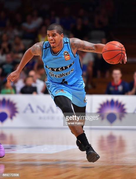 Edgar Sosa of the New Zealand Breakers drives during the round nine NBL match between the Adelaide 36ers and the New Zealand Breakers at Titanium...