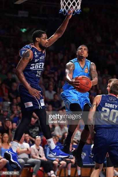 Edgar Sosa of the New Zealand Breakers drives to the basket during the round nine NBL match between the Adelaide 36ers and the New Zealand Breakers...