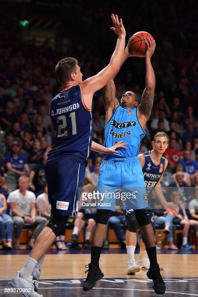 Edgar Sosa of the New Zealand Breakers shoots during the round nine NBL match between the Adelaide 36ers and the New Zealand Breakers at Titanium...