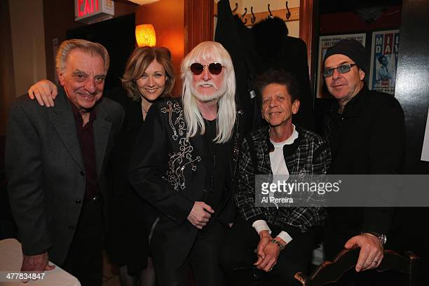 Edgar Winter backstage before he performs with the Les Paul Trio at Iridium Jazz Club on March 10, 2014 in New York City. Lou Pallo; Nicki Parrott;...