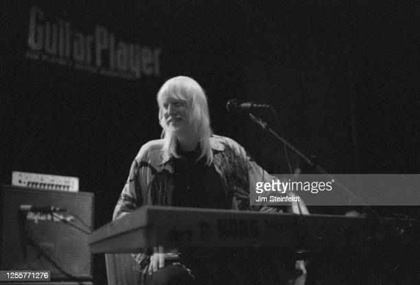 Edgar Winter performs at the NAMM Show at the Anaheim Hilton Hotel in Anaheim, California on February 19, 2002. (Photo by Jim Steinfeldt/Michael Ochs...