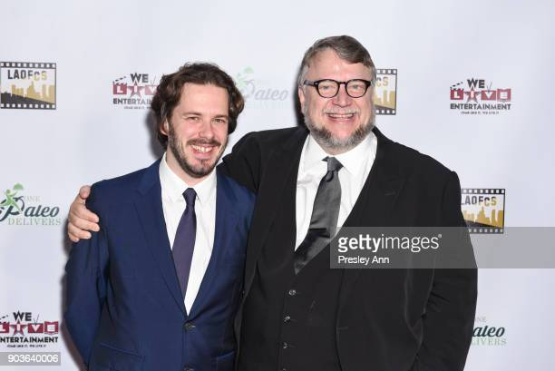 Edgar Wright and Guillermo del Toro attend The Inaugural Los Angeles Online Film Critics Society Award Ceremony at Taglyan Complex on January 10 2018...