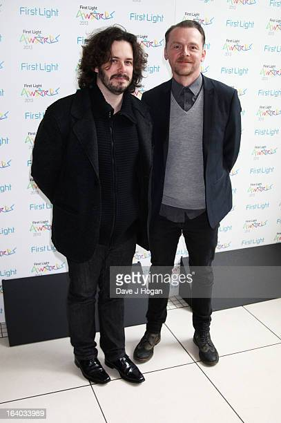 Edgar Wright and Simon Pegg attend the First Light Awards 2013 at The Odeon Leicester Square on March 19 2013 in London England