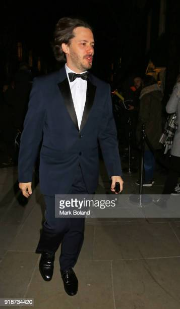 Edgar Wright arrives at the Dunhill GQ preBAFTA Filmmakers Dinner and Party Cohosted by Andrew Maag Dylan Jones at Bourdon House on February 15 2018...