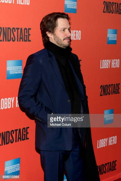 Edgar Wright attends 'Lobby Hero' Broadway opening night at Hayes Theater on March 26 2018 in New York City