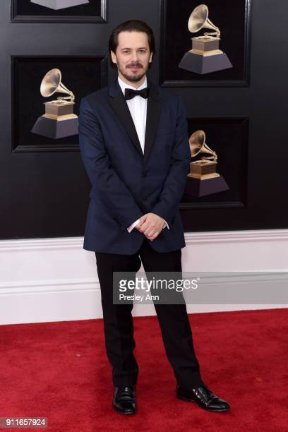Edgar Wright attends the 60th Annual GRAMMY Awards Arrivals at Madison Square Garden on January 28 2018 in New York City