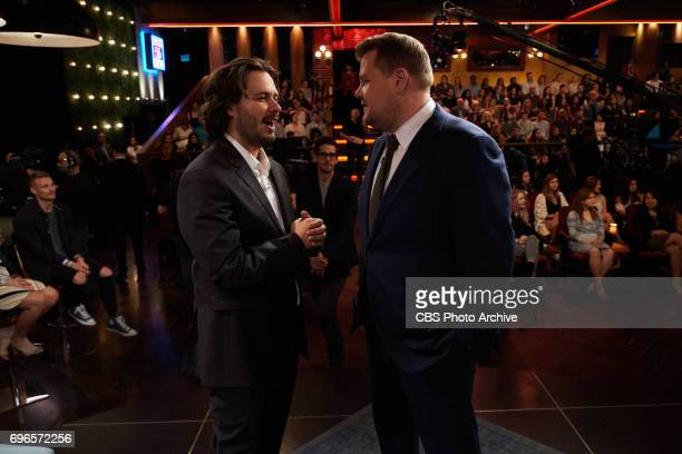 Edgar Wright chats with James Corden during The Late Late Show with James Corden Wednesday June 14 2017 On The CBS Television Network