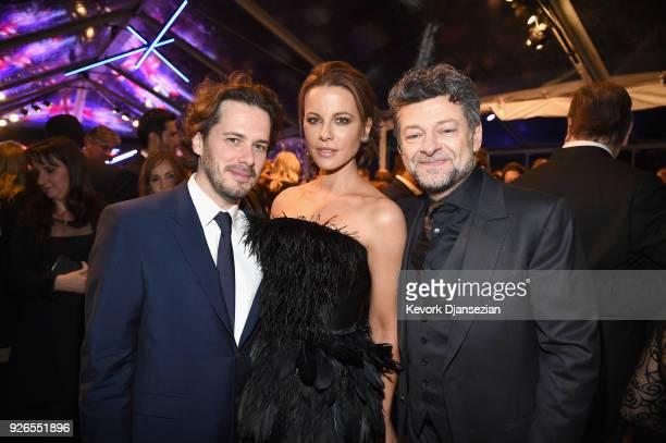 Edgar Wright Kate Beckinsale and Andy Serkis attend the Great British Film Reception honoring the British nominees of The 90th Annual Academy Awards...