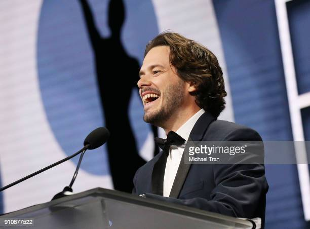 Edgar Wright speaks onstage during the 68th Annual ACE Eddie Awards held at The Beverly Hilton Hotel on January 26 2018 in Beverly Hills California