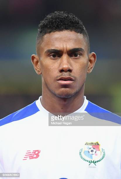Edgar Yoel Barcenas of Panama looks on during the International Friendly match between Denmark and Panama at Brondby Stadion on March 22 2018 in...
