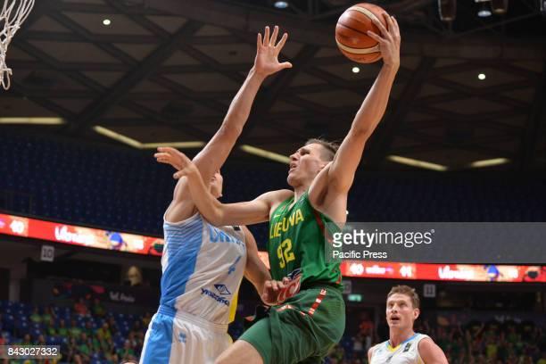 Edgaras Ulanovas of Lithuania during Eurobasket Group B a game between Ukraine vs Lithuania in Tel Aviv Israel Lithuania won 9264