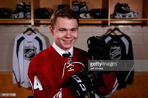 Edgars Kulda 193rd overall pick of the Arizona Coyotes poses for a portrait during the 2014 NHL Entry Draft at Wells Fargo Center on June 28 2014 in...