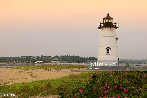 edgartown lighthouse - martha's_vineyard stock pictures, royalty-free photos & images