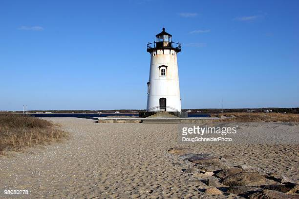 edgartown lighthouse - marthas vineyard stock pictures, royalty-free photos & images