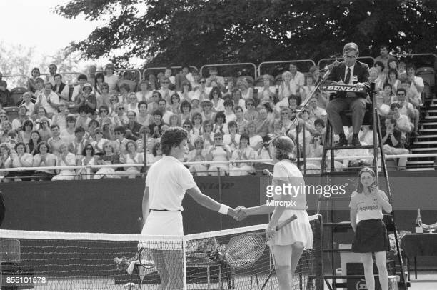 Edgbaston Cup at the Edgbaston Priory Club in Birmingham England 11th to 17th June 1984 Our picture shows Pam Shriver defeats Anne White 76 63 to win...