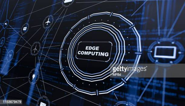 edge computing digital background - at the edge of stock pictures, royalty-free photos & images