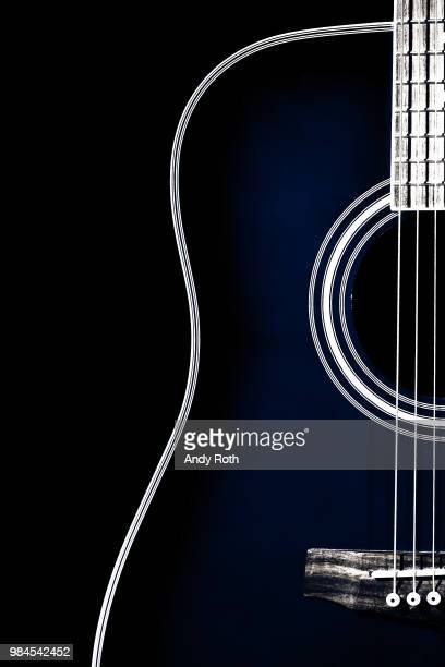 edge of blue - acoustic guitar stock pictures, royalty-free photos & images