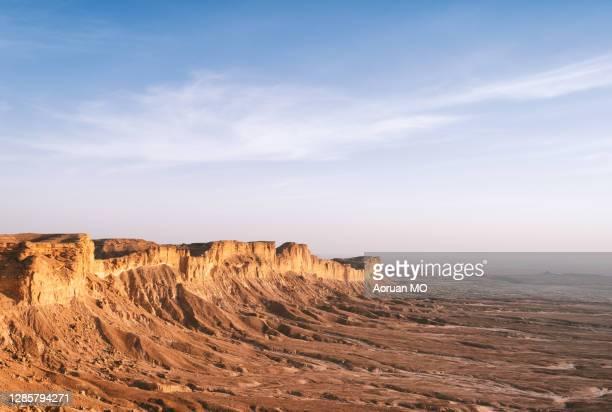 edge of the world,riyadh,saudi,مطل حافة العالم من طريق العيينة - religion stock pictures, royalty-free photos & images