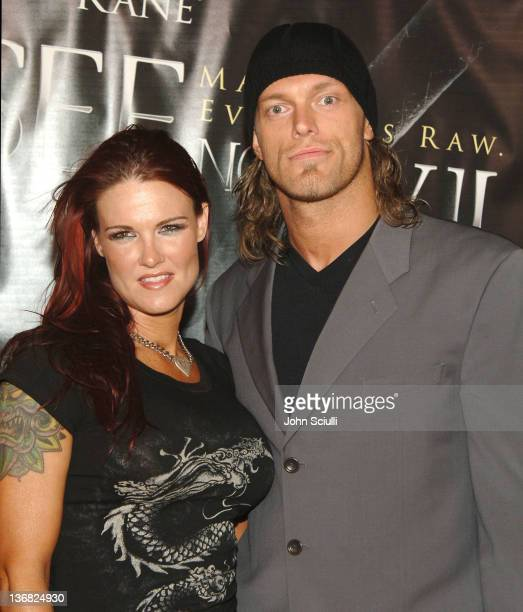 Edge WWE Raw Superstar and Lita WWE Diva during 'See No Evil' Premiere Arrivals in Los Angeles California United States
