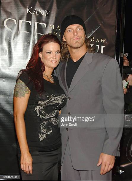 Edge WWE Raw Superstar and Lita WWE Diva during See No Evil Premiere Arrivals in Los Angeles California United States