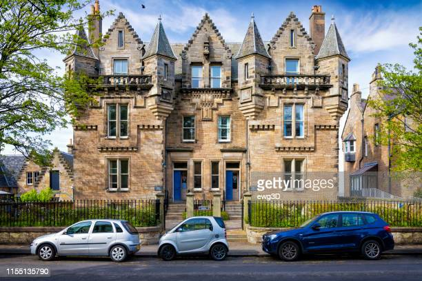 edgecliffe, st. andrews university, scotland - st. andrews scotland stock pictures, royalty-free photos & images