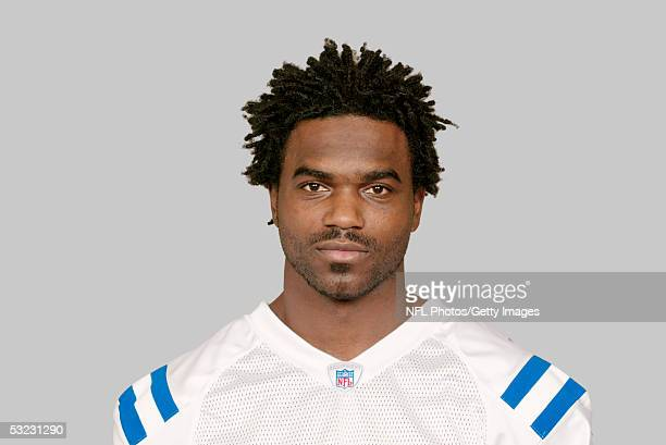 Edgerrin James of the Indianapolis Colts poses for his 2005 NFL headshot at photo day in Indianapolis, Indiana.