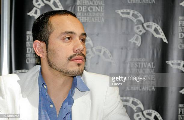 Edher Campos poses for the camera during the presentation of the Mexican film Leap Year as part of the second international film festival in the city...