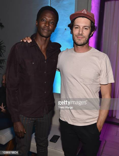 Edi Gathegi and Adam Brody attend the 2018 Tribeca TV Festival Opening Party at Spring Studios on September 20 2018 in New York City