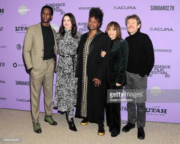 Edi Gathegi Anne Hathaway Dee Rees Rosie Perez Willem Dafoe attend the Netflix The Last Thing He Wanted Premiere at Eccles Center Theatre on January...