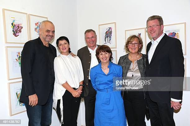 Edi Rama, Prime Minister of Albania and his wife Linda, Johannes Singhammer and his wife Ruth Singhammer, Marcel Huber and his wife Adelgunde during...