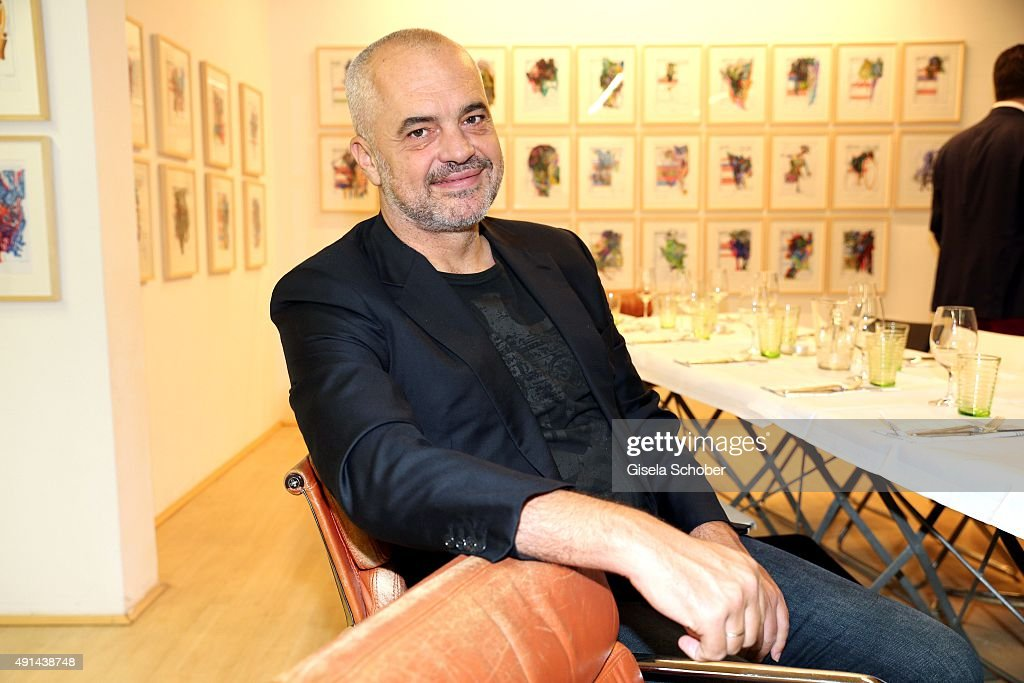 Edi Rama - Daily Drawings Exhibition Preview In Munich