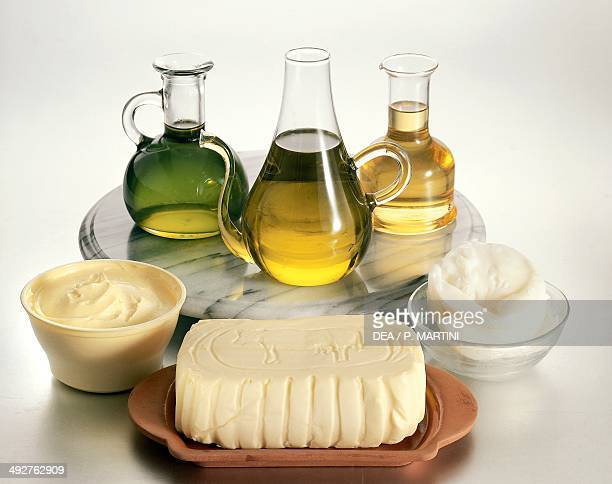 Edible fats oil margarine butter and lard
