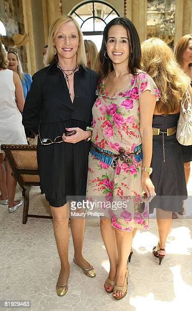 Edie Baskin and Haley Binn attend the Los Angeles Confidential Magazine's summer luncheon to honor Haley Bin on July 11 2008 in Malibu California