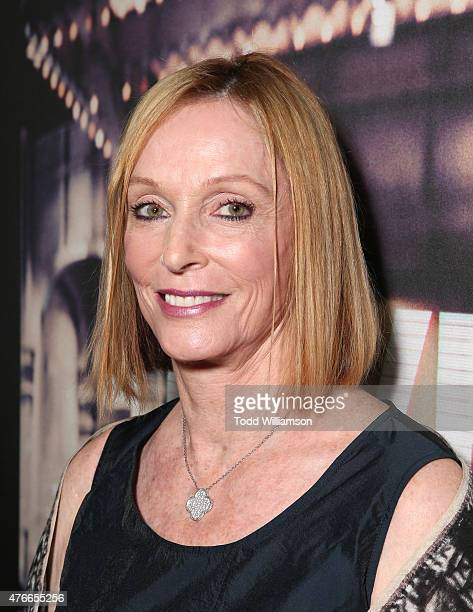 Edie Baskin attends the premiere Of Abramorama's Live From New York Red Carpet at Landmark Theatre on June 10 2015 in Los Angeles California