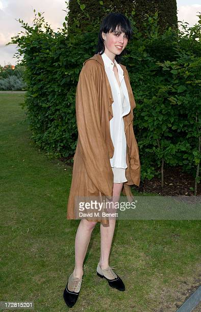Edie Campbell attends a private view of 'Fashion Rules' a new exhibition featuring a rare collection of dresses worn by Queen Elizabeth II Princess...