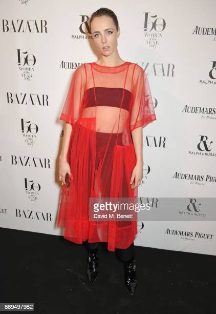 Edie Campbell attends Harper's Bazaar Women of the Year Awards in association with Ralph Russo Audemars Piguet and MercedesBenz at Claridge's Hotel...