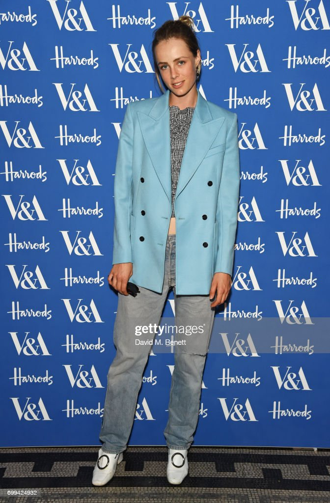 Edie Campbell attends the 2017 annual V&A Summer Party in partnership with Harrods at the Victoria and Albert Museum on June 21, 2017 in London, England.