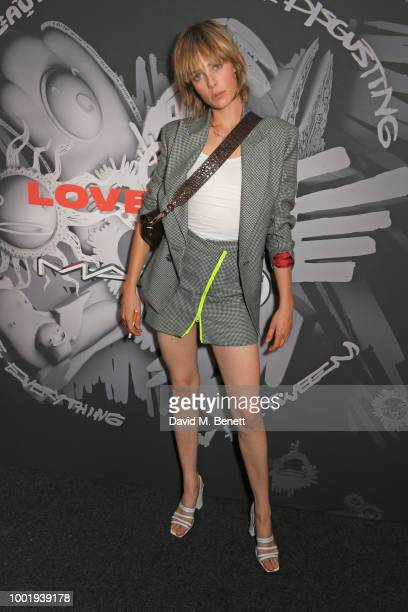 Edie Campbell attends the Charles Jeffrey LOVERBOY x MAC Pro Party at 180 The Strand on July 19 2018 in London United Kingdom