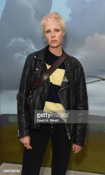 Edie Campbell attends the launch of 'Wiltshire Before Christ' by Aries X Jeremy Deller x David Sims at The Store X 180 The Strand on January 15 2019...