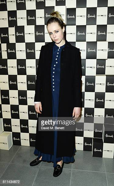 Edie Campbell attends the Serpentine Future Contemporaries x Harrods Party 2016 at The Serpentine Sackler Gallery on February 20 2016 in London...