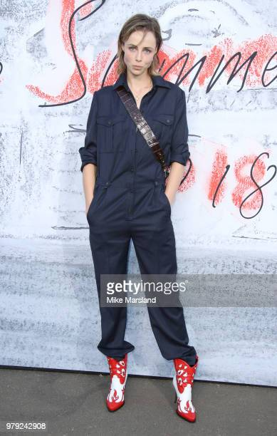 Edie Campbell attends The Serpentine Summer Party at The Serpentine Gallery on June 19 2018 in London England