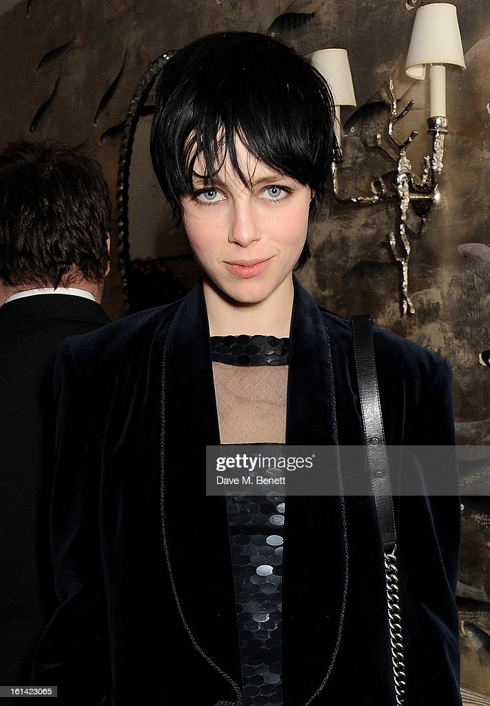 Edie Campbell attends The Weinstein Company and Entertainment Film Distributors Post-BAFTA Party hosted by Chopard and Grey Goose at LouLou's on February 10, 2013 in London, England.