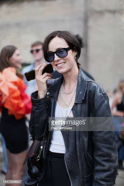 Edie Campbell is seen at COS during London Fashion Week September 2021 on September 21, 2021 in London, England.