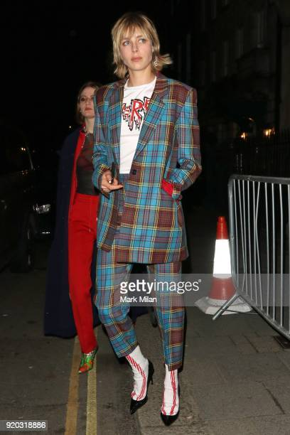 Edie Campbell seen at the Vogue and Tiffany Co party at Annabel's club after attending the EE British Academy Film Awards at the Royal Albert Hall on...