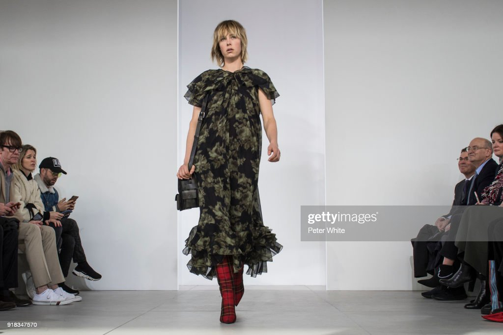 Edie Campbell walks the runway during the Michael Kors Collection Fall 2018 Runway Show at Vivian Beaumont Theatre at Lincoln Center on February 14, 2018 in New York City.
